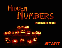 Hidden Numbers : Halloween Night