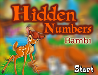 Hidden Numbers : Bambi