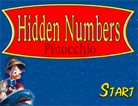 Hidden Numbers : Pinocchio