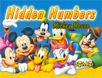 Hidden Numbers : Mickey Mouse