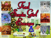 Tied Santa Girl Escape