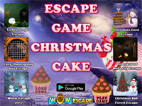 Escape Game Christmas Cake