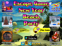 Escape Game New Year Beach Party