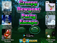 Creepy New Year Party Escape