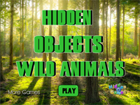 Hidden Objects Wild Animals