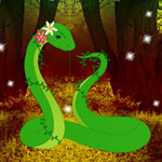 Fantasy Green Snake Rescue