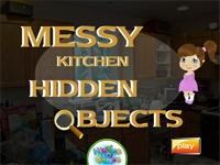 Messy Kitchen Hidden Objects