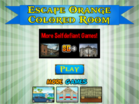 Escape Orange Colored Room