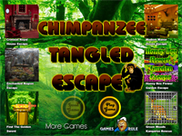 Chimpanzee Tangled Escape