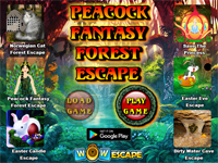 Peacock Fantasy Forest Escape